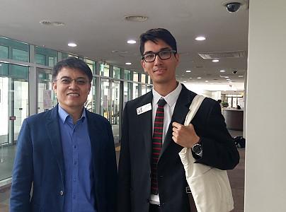 서울 용산국제학교 방문 컷